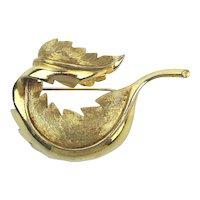 JOMAZ Figural Leaf Pin Brooch