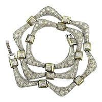Wavy Crystal Rhinestone Necklace - Refined Glamour