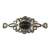 Native American GWS MAKER Sterling Silver Pin Brooch
