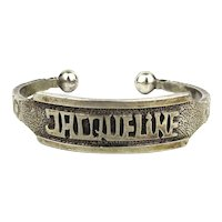 Custom Crafted JACQUELINE Cuff Bracelet Solid Sterling Silver