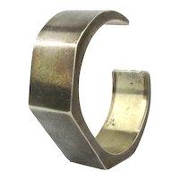 Modernist Taxco Cuff Bracelet Sterling Silver Signed Eagle 2
