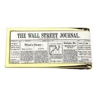 Vintage Wall Street Journal Newspaper Money Clip