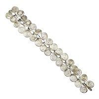 Vintage Sterling Silver Coil Link Bracelet