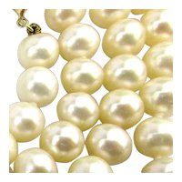 Lovely Vintage Real Pearl Necklace w/ 14K Gold Clasp