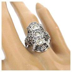 UNCAS Sterling Silver Art Deco Ring