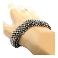 Vintage Sterling Silver Cannetille Bracelet