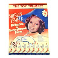 1938 Shirley Temple Sheet Music The Toy Trumpet