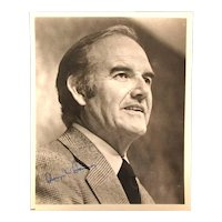 Original Autographed 8 x 10 Photo George McGovern Presidential Candidate 1972