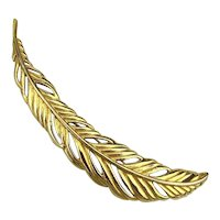 Monet Long 5 Inch Feather Pin Brooch