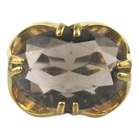 Vintage 10K Gold Filled Quartz Stone Ring
