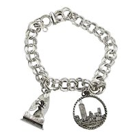 Sterling Silver CHICAGO Picasso Charm Bracelet Needs Your Charms