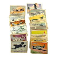 1952 TOPPS WINGS Airplane Aircraft Gum Cards