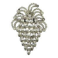 Great Vintage Crystal Rhinestone Strawberry Pin Brooch