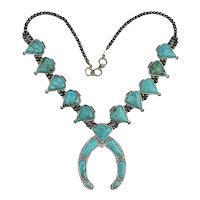 Vintage Faux Squash Blossom Necklace - A Great Impostor