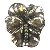 Vintage Sterling Silver Flower Pin Brooch by Jewelart