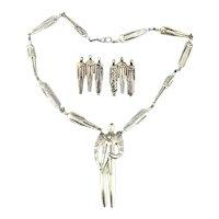 Vintage Laurel Burch People Necklace Earrings Set
