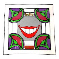 HELLO 1960s PETER MAX Psychedelic Vinyl Tote Bag Pop Art