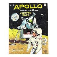 Original APOLLO Man on the Moon Coloring Book - 1969 Saalfield Uncolored NASA