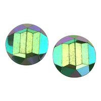 Crazy Colors Western Germany Glass Clip Earrings