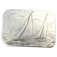 Vintage WENDELL AUGUST Forge Sailboat Pin Brooch