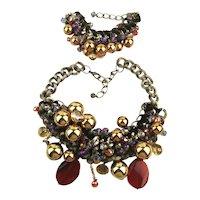 Mega Everything But The Kitchen Sink Necklace - Bracelet Set