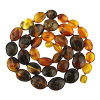 Smorgasbord of Genuine Natural AMBER Beads Necklace