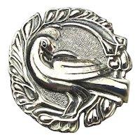 Taxco I.M.P. Sterling Silver Dove Pin Brooch Eagle 14
