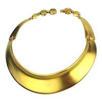Vintage Bijoux Designs N.Y. Goldtone Band Necklace