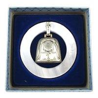 Vintage WEB Sterling Silver Baby Rattle Teething Ring Unused in Box