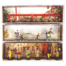 3 W. Germany MERTEN Miniature People Sets Railroad