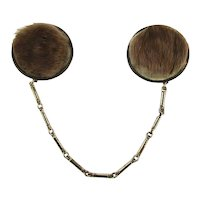 Vintage 1950s Mink Fur Sweater Clips Kitschy Campy Cool