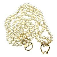 Kenneth J. Lane KJL Luxe 3 Strand Faux Pearl Necklace