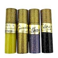 c1950 Gold Flecked Plastic Tubes of Sample Perfume Vials