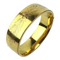 Art Deco Carl-Art Gold Filled Hinged Bracelet Wide