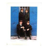 Rare Beatles 1964 Nems Cardboard Doorway Poster by Louis Dow