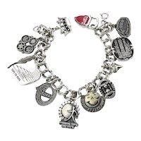 Vintage TOPS Weight Loss Silvertone Charm Bracelet Wrist Inspiration