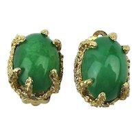 PANETTA Lush Green Glass Clip Back Earrings