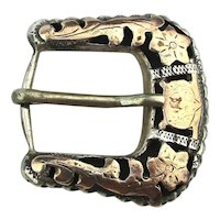 Vintage ALC Mexican Sterling Silver Belt Buckle Guadalajara