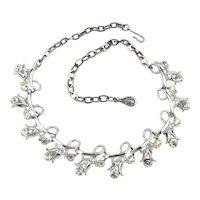 Vintage CORO Rhinestone Necklace