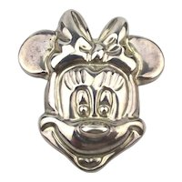 Taxco Mexican Minnie Mouse Sterling Silver Pin Pendant