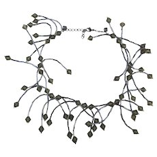 Rebel Wild Bead Dangles Necklace Crystal Ends