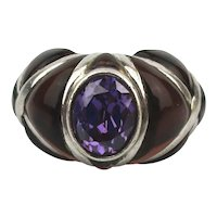 Surprising Sterling Silver and Gemstone Ring