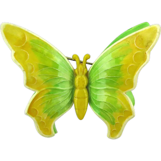 Enamel Western Germany Double Decker Butterfly Pin