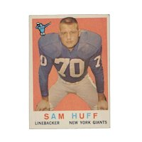 1959 Topps Football Trading Card Sam Huff #51 Exc. Cond.
