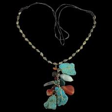 Super Dangle of Genuine Stones Necklace
