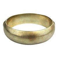 Brushed Gold on Sterling Silver Hinged Bracelet