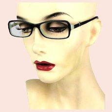 Vintage Tiffany & Co. Eyeglasses Women TF 2061 8055 Black/Aqua Frame