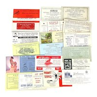 Lot of 20 Old Advertising Blotters 1920s to 1950s