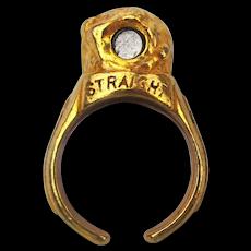 Old Orig. c1950 STRAIGHT ARROW Nabisco Premium Ring