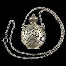 Vintage GOLDETTE Fancy Jug Urn Pendant Necklace